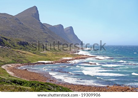 Coast of South Africa - stock photo