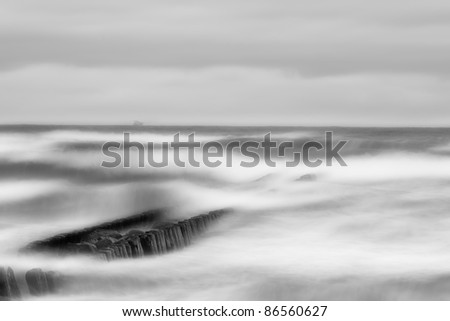 coast of the Baltic Sea - stock photo