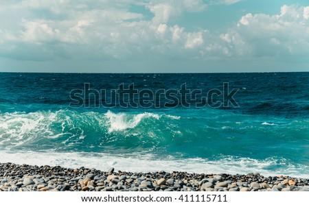 Coast of the Black Sea - stock photo
