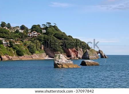 coast of Torbay - stock photo