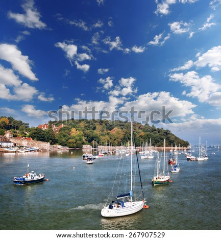 Coast of Wales with Conwy bay in United Kingdom - stock photo