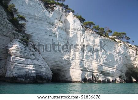 coast the Gargano peninsula, southern Italy - stock photo