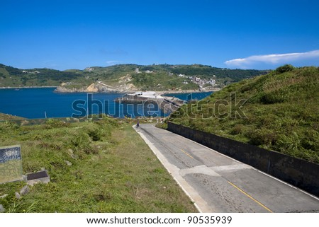 Coast - the road - stock photo