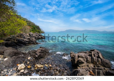 Coast with rocks - stock photo