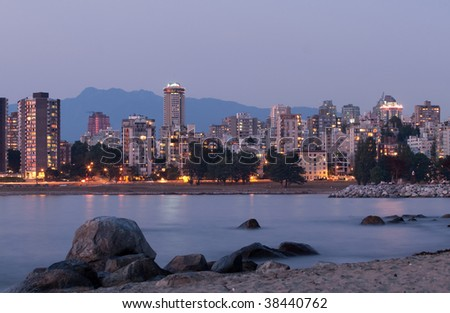 Coastal Cityscape - stock photo