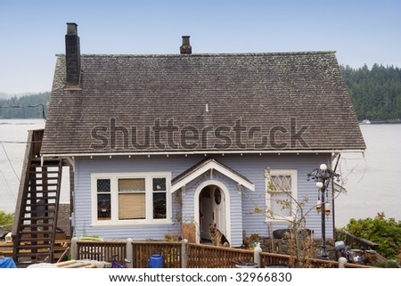 Coastal Cottage - Tofino, Canada - stock photo