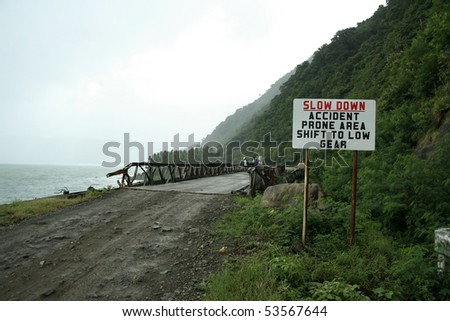 coastal highway in northern luzon philippines - stock photo