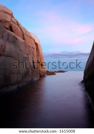 Coastal landscape - stock photo