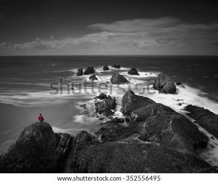 Coastal landscape. - stock photo