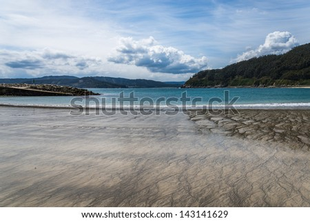 Coastal landscape from Galician coast, Spain. - stock photo