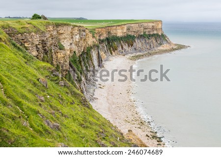 Coastal landscape in Normandy, France