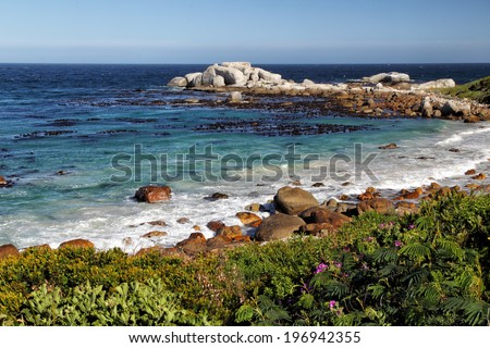 Coastal Landscape on the Cape Peninsula south of Cape Town, South Africa.