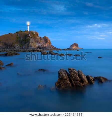 Coastal Lighthouse, Krabi, Thailand - stock photo