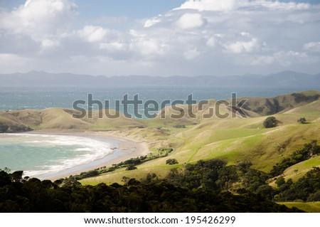 Coastal New Zealand - stock photo