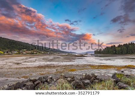 Coastal ocean views Haida Gwaii British Columbia Canada - stock photo