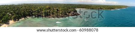 coastal panorama view - stock photo
