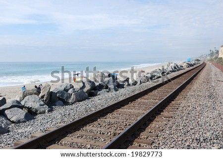 Coastal Railroad - stock photo