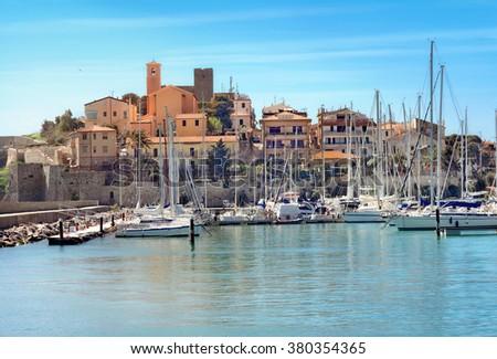 Coastal town of Talamone. Grosseto region, Tuscany, Italy - stock photo