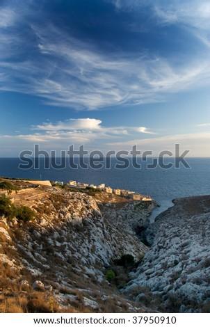 Coastal Valley - stock photo