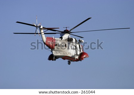 Coastguard Helicopter in flight