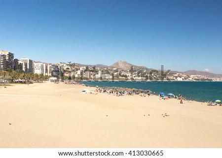 Coastline at Malaga - stock photo