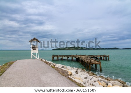 coastline at the tropical sea of Khao Leam Ya - stock photo