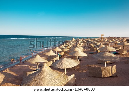 Coastline in Sharm el-Sheikh, outdoor horizontal shoot - stock photo