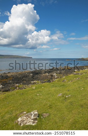 Coastline landscape in Skye isle. Scotland. UK. Vertical
