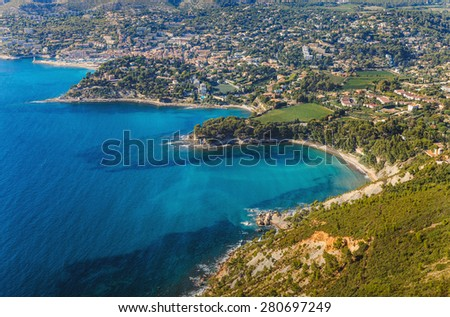 Coastline near Cassis  and Marseille in France - stock photo