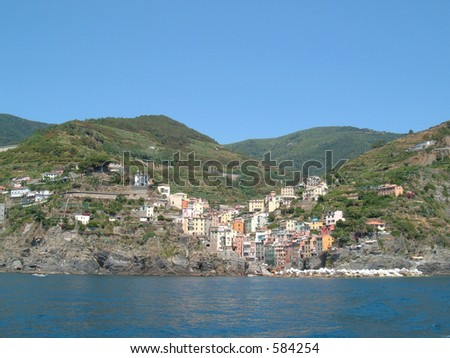 Coastline of a small village in Italy