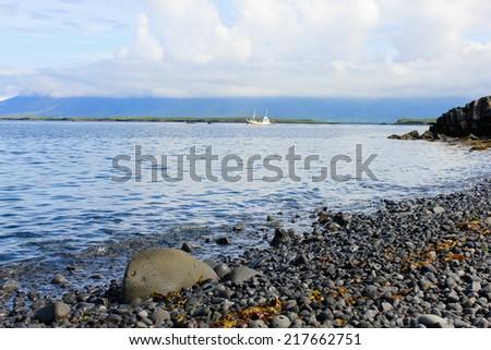 Coastline of Iceland - stock photo