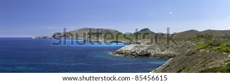 Coastline of Majorca, Llevant Natural Park - stock photo