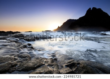 coastline of tenerife - stock photo