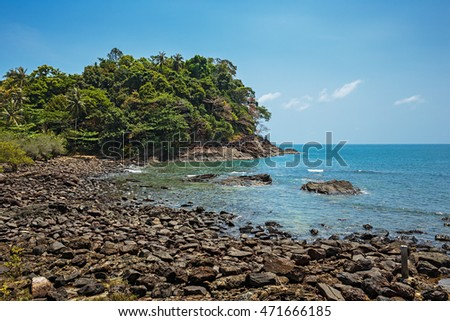 Coastline of the tropical island in Thailand