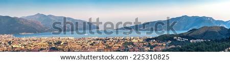Coastline panorama in Marmaris Icmeler, Turkey - stock photo