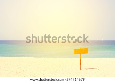 Coastline with Water, Sand and Sea. Nature background. Toned - stock photo