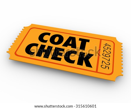 Cartoon ticket stock illustration 89485672 shutterstock for Coat check tickets template