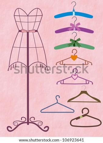 coat hanger - stock photo