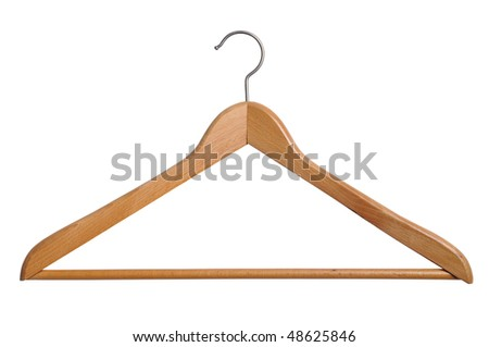 Coat hanger isolated over white background