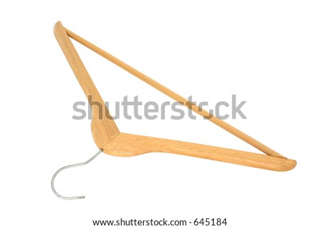 Coat Hanger - pure white background #2