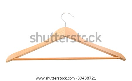 coat hook on a white background with isolated path