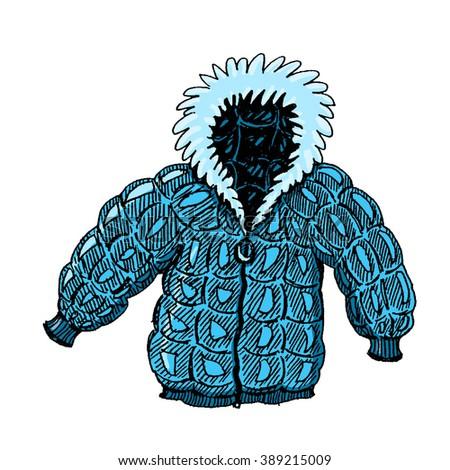Coat illustration; Fur coat - stock photo