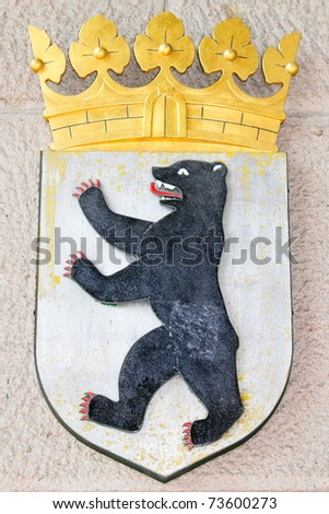 Coat of arms of Berlin - stock photo