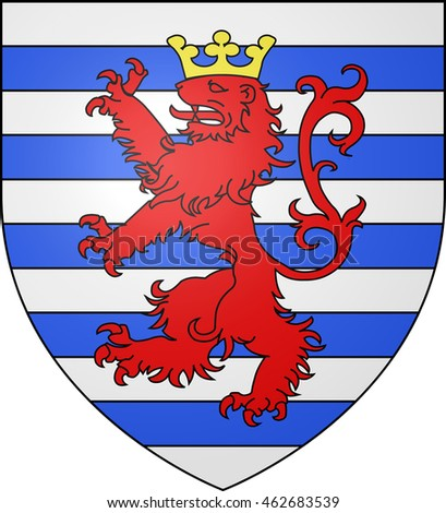 Coat of arms of the city of Luxembourg - Capital of the Grand Duchy of Luxembourg.