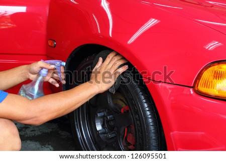 Coated wheels - stock photo