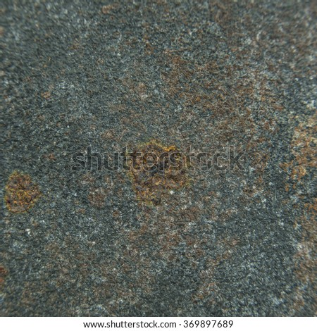 Coating texture of corrosion that is formed over flat metal or iron plate. - stock photo