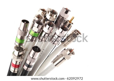 Coax cables - stock photo