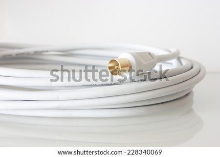 Coaxial cable - stock photo