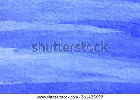 Cobalt Blue Hue Watercolor Background 12 - stock photo