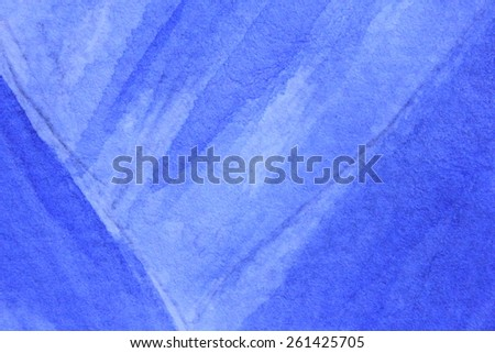 Cobalt Blue Hue Watercolor Background 11 - stock photo